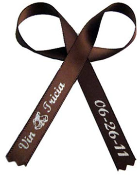 Brown Wedding Favor Ribbon