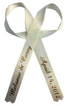 Ivory Wedding Favor Ribbon